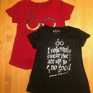 Lot of 2 Harry Potter Girls' T-shirts
